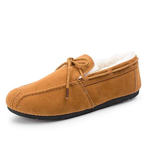 Chaussures Unisex Adult Pois moitié plat Décontractéee chaussures hiver de marche Marron