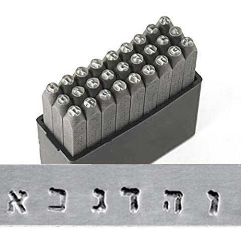 ImpressArt 27-Piece Hebrew Alphabet Punch Stamp Set