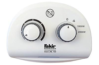 Fakir Heizluefter trend HL 100, 1 Stück, weiß/grau, 5421006 von Fakir Hausgeräte GmbH - Heizstrahler Onlineshop