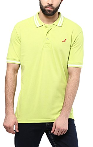 American Crew Mens Cotton Polo (Ac302-Xxl _Lime Green _Xx-Large)  available at amazon for Rs.299