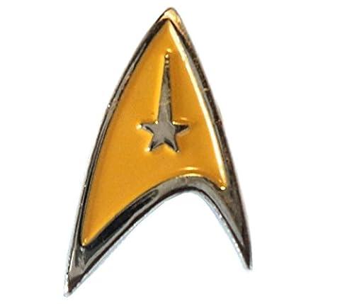 Star Trek Starfleet Insignia Yellow Logo Delta Shield Enamel Badge 20mm