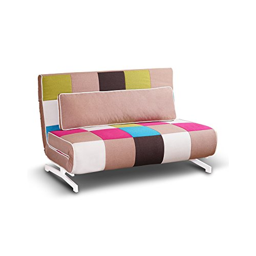 Tuoni Super divanoletto, Metallo, Multicolore, 140x75x88 cm