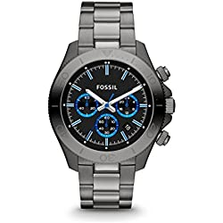 Fossil Retro Traveler Chronograph Black Dial Men's Watch - CH2869