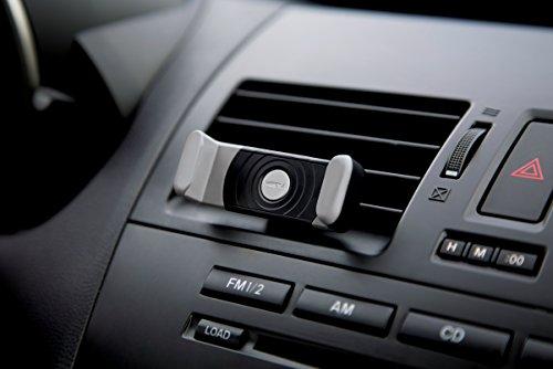 Kenu Airframe Lüftungs Halterung für Smartphones (min. 55mm / max. 73mm Breite) - schwarz/grau [360° Drehbar | Gummierte Haltebacken | Patentierte Technologie | Standfunktion] - AF1-KK-AP -