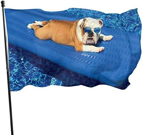 Viplili Flagge/Fahne, English Bulldogs Flag 3x5 FT Garden Flag Tough The Strongest, Longest Lasting Flag National Flag Outdoor Flags