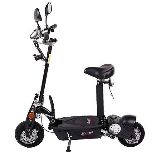 MACH1® Elektro E-Scooter mit EU Strassenzulassung 20Km/h Mofa Modell-2 EEC 36V/500W (Es besteht keine Helmpflicht für diesen Scooter) (1x 36V-16Ah Panasonic Akkus) - 2