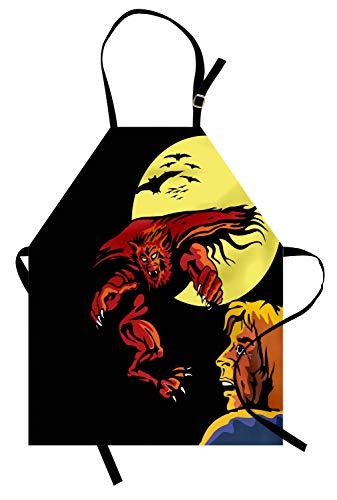 ABAKUHAUS Dibujos Animados Delantal de Cocina