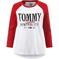 Tommy Hilfiger polo tee for women in Red & White, Size:Large