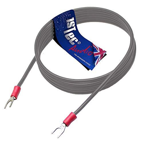 Câble de mise à la terre pour platine tourne-disques pour éviter les larsens et bourdonnements. 3 m Noir
