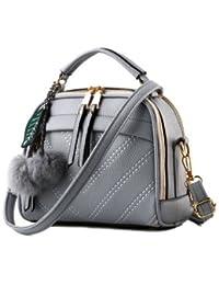 New Pu Leather Women Leather Handbag Hairball Women Messenger Bags Pouch Shoulder Crossbody Bags - B07B268LS4