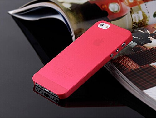 Safeseed® ultra thin case for Apple Iphone 5 5S mobile phone back cover 0.3 mm Red