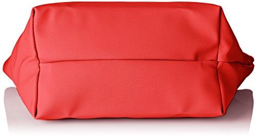 Lacoste NF2037PO, Borsa a Tracolla Donna, 24.5 x 14.5 x 23.5 cm RED ALTO RISCHIO (High Risk Red)
