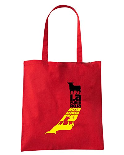 T-Shirtshock - Borsa Shopping WC0565 SPAIN T-SHIRT - LA FURIA ROJA Rosso