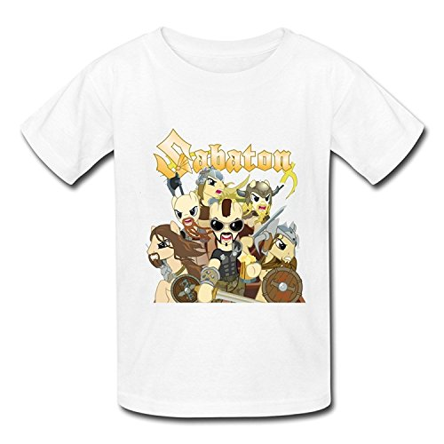 Big Boys'/Girls' Sabaton Anime Art T-Shirt - WhiteYILIAX10491Large