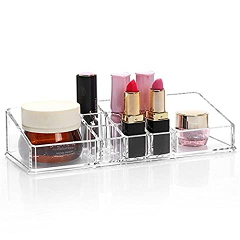 Luomike Maquillage Tiroir Espace de rangement Boîte Polyvalent Boxs Acrylique transparent (E)