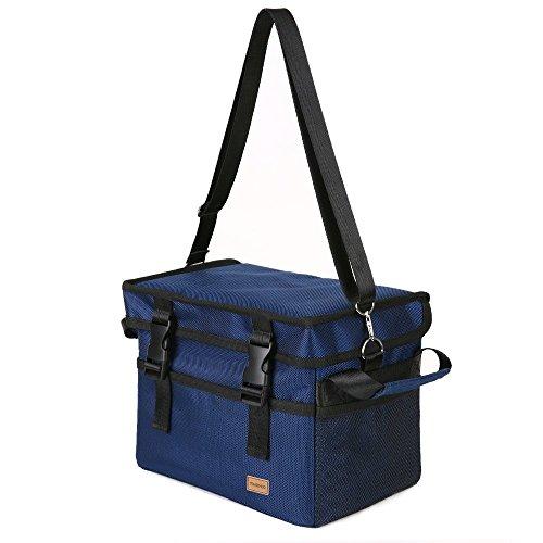 Tomshoo borsa termica, borsa pranzo, picnic pieghevole isoterma con tracolla grande capacitš€ 10/18/28/37/47l per campeggio, scuola, lavoro