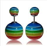 Lady Rainbow Multi-Coloured Stud Earring...