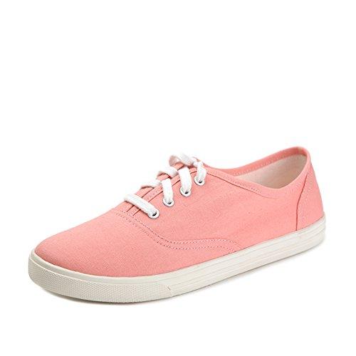 Tinta unita nellautunnali scarpe da ginnastica basse/Scarpe casual da fondo piatto tondo Rosa