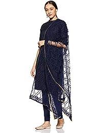 Elleven Women's net Dupatta (20CRE80001-601826_Eclipse_FS)