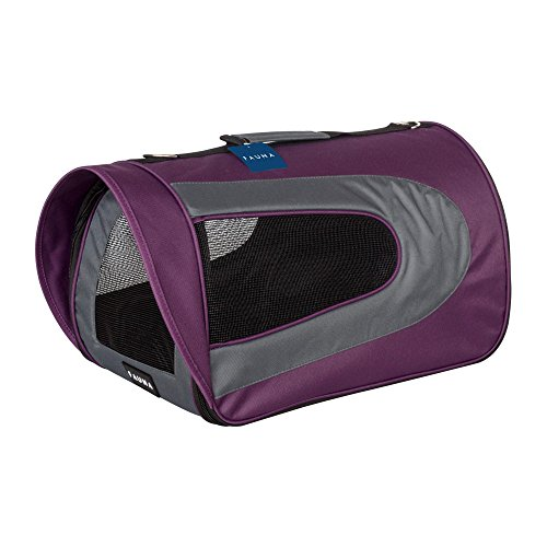 Unbekannt Fauna CARRIER-1010 Folding Travel Carrier Dog Cat Puppy Toy Aeroplane Lightweight Comfortable Pet Bag Box, Purple -