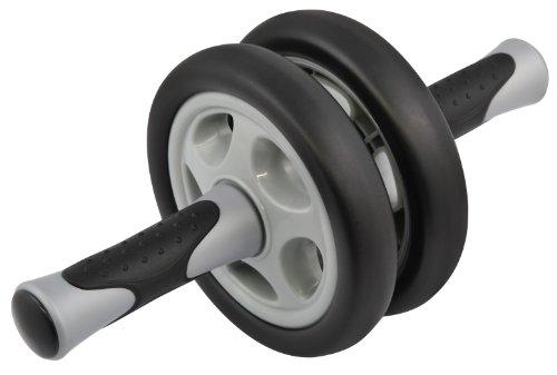Premium AB-Wheel-Roller, Trainer für Bauch, Arm und Rücken, schwarz, ca. 31x14x14cm (LxBxH)