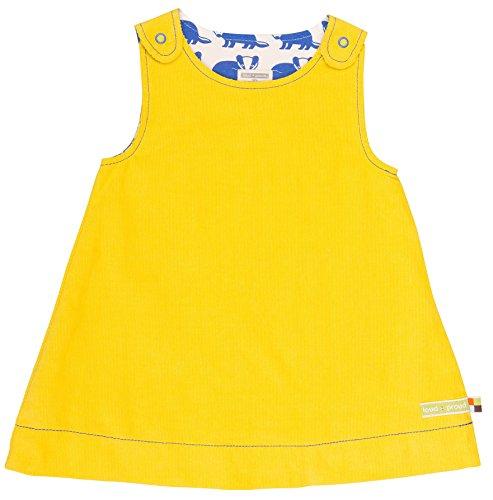 n Kleid Wendekleid Cord, Gelb (Honey Hon), 116 (Herstellergröße: 110/116) (Mädchen Kleid Shop)