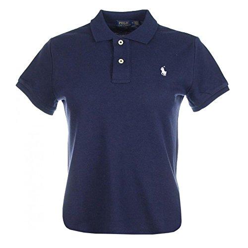 Ralph Lauren Damen Kurzarm Polo Shirt Mesh Fit (Navy, M) -