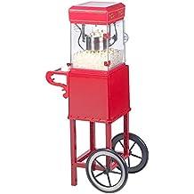 """Rosenstein & Söhne Caramel Popcorn Maker: Profi-Popcorn-Maschine """"Cinema"""" mit Rollwagen im Retro-Design (Popcorn-Maschine elektrisch)"""