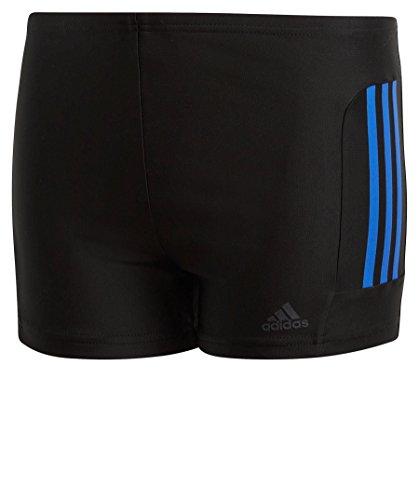 adidas Jungen Fitness 3-Streifen Badehose, Black/Hi-Res Blue, 140
