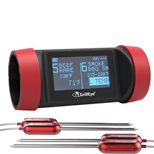 Grilleye Pro+ 8 Port Grillthermometer Set + 2 zusätzliche Temperaturfühler - Pro Grill