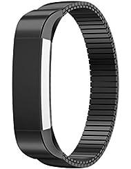 SWITCHALI Elastisches Edelstahl Armband Uhrenarmband für Fitbit Alta HR Smart Watch