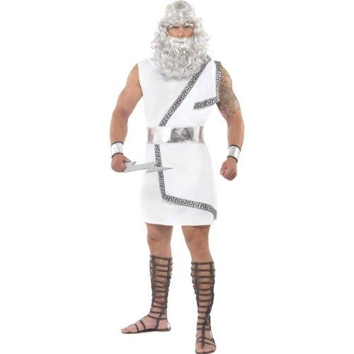 Zeus Gott Griechischer Kostüm - Smiffys Karneval Herren Kostüm Zeus Toga griechischer Gott Größe M