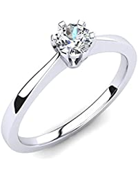 Silvernshine Women's Solitaire Wedding & Engagement Ring 14K White Gold Fn 0.5Ct Sim Diamond