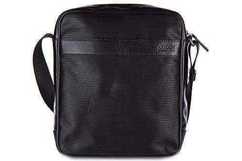 Armani Collezioni / Jeans borsa uomo a tracolla borsello in pelle nero