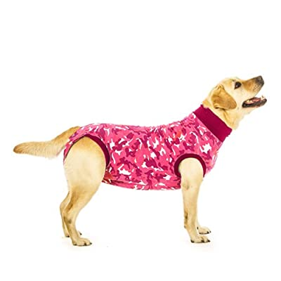 Suitical Recovery Suit for Dogs in Pink Camo. Professional alternative to the Cone of Shame. Suitable for wound and Bandage protection, Hotspots, Skin Diseases, Light Incontinence, When in Heat. Used by thousands of pet owners and vets worldwide.