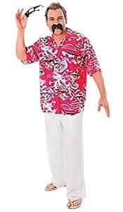 Bristol Novelty AC234 Camisa Floral Hawaiana, Multicolor