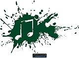 CLICKANDPRINT Aufkleber » Music Splash, 30x20,0cm, Dunkelgrün • Dekoaufkleber / Autoaufkleber / Sticker / Decal / Vinyl