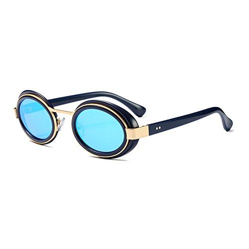 Burenqi@ Neueste mode Sonnenbrille Sonne Brille ovaler Spiegel Brillen Frauen Männer berühmte Marke Designer Outdoor Goggle UV400, EIN