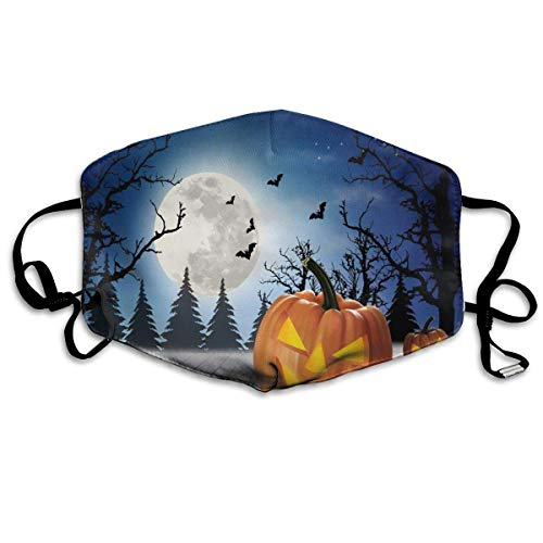 cvbnch Staubmaske Außenmaske Halloween Holiday Pumpkin Cat Bat Printed Mouth Masks Unisex Anti-dust Masks Reusable Face Mask Soft and Breathable for Men Women Fashion Anime Black Nose Disposable Rave