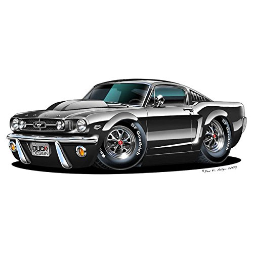 Price comparison product image Ford 1965 Mustang - Vinyl Wall Art Sticker - Black