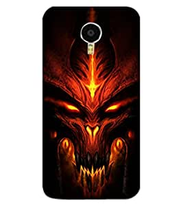 ColourCraft Scary Face Design Back Case Cover for MEIZU BLUE CHARM NOTE 3