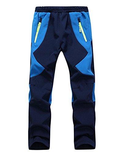 Echinodon Kinder Gefütterte Hose Softshellhose Winddicht Wasserabweisend Atmungsaktiv Warm Jungen Mädchen Regenhose Skihose Wanderhose