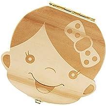 U/&X Zahndosen Milchz/ähne Box und 2 St/ück Cartoon Tiere Zahnb/ürstenhalter mit Saugnapf