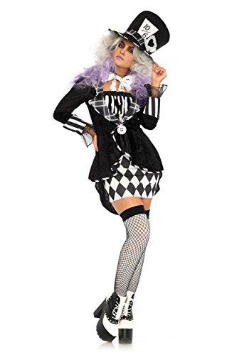 Womens Gothic Dark Mad Hatter Kostüm Medium