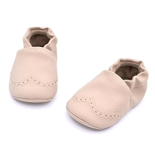 Ouneed® Baby Toddler Infant Newborn Prewalker Boots Tassel Shoes Soft Sole (13, Rose vif) Beige