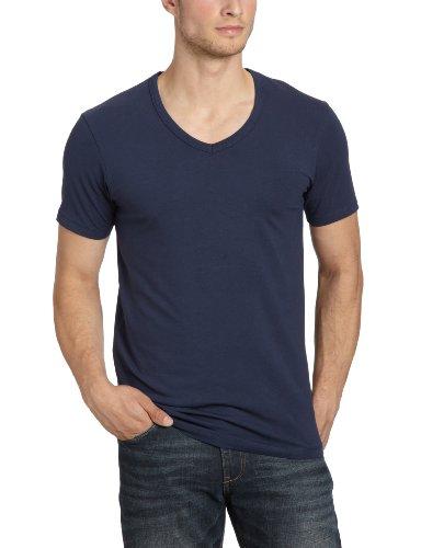 JACK & JONES Herren T-Shirt 12059219 Basic V-Neck Tee, Gr. 50 (M), Blau (NAVY BLUE) (Navy Kurzarm-pullover)