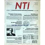 N.T.I./ NOUVELLES TECHNOLOGIES DE L'INFORMATION [No 2] du 01/10/1988 - TRANSPAC 10 ANS APRES - CD-ROM - LES APPLICATIONS DISPONIBLES - LES AXES DE DEVELOPPEMENT DE LA STERIA - PEUGEOT FORME 3000 VENDEURS GRACE A L'EAO - SYSTEMES EXPERTS ET RNI CHEZ PHILIPS - M. JEAN CARTERON.