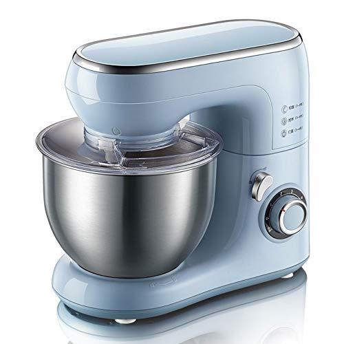YHLZ Elektrische Küchenmaschine, elektrische Küchen 1000W Food Mixer Stände, Stand Mixer mit 6 Geschwindigkeiten 5 Liter Rührschüssel & Spritzschutz, Knethaken, Schneebesen & Beater (Größe: 384 * 236