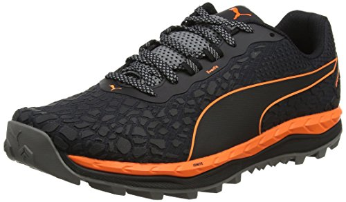 Puma Herren Speed Ignite Trail Outdoor Fitnessschuhe, Schwarz (Black-Shocking Orange-Quiet Shade), 44 EU (Herren-schuhe Trail Running-schuhe)