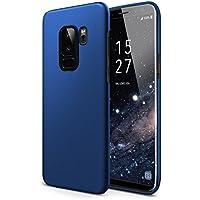 Galaxy S9 PLUS Hülle - vau SlimShell Case - Handy Schutz-Hülle Rückseite (matt blau)
